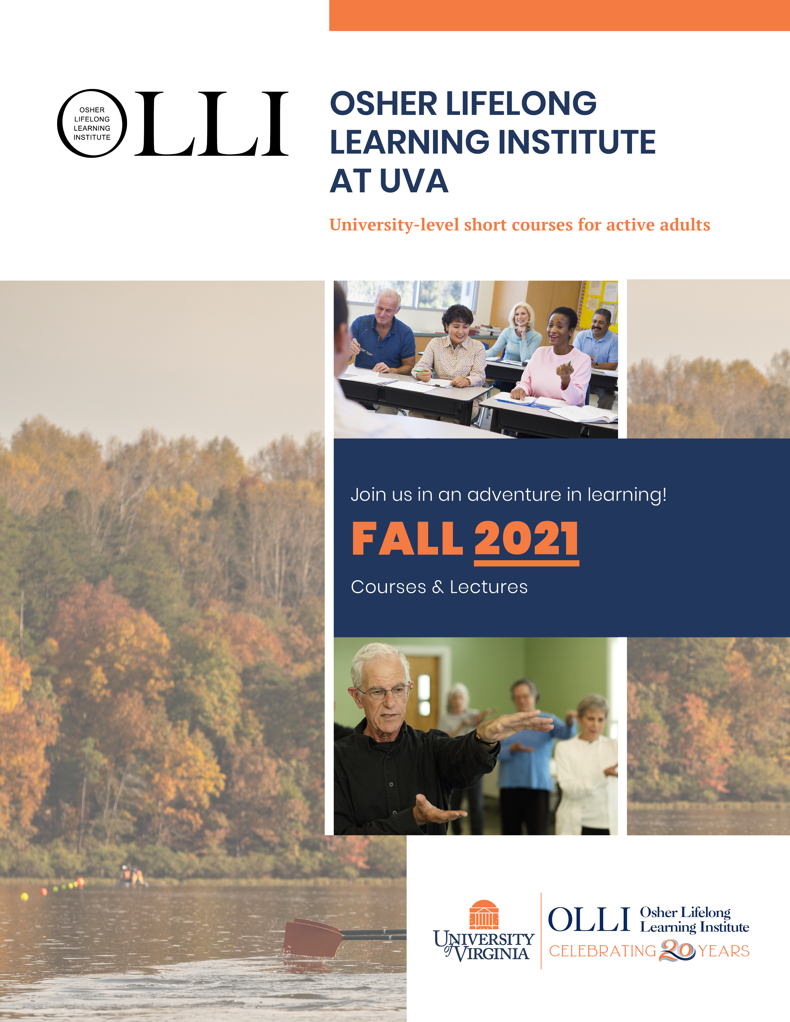 Front page Fall 2021 catalog for senior classes